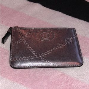 Gray Mini Coach Wallet